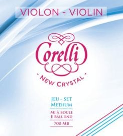 Corelli Crystal violin string set with Ball End medium