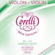Corelli Crystal violin string set with Loop End Soft