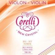 Corelli Crystal violin string set with Loop End hard