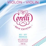 Corelli Crystal violin string set with Loop End medium