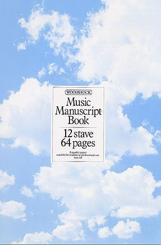 Music Manuscript Paper 12 Stave - 64 pages (A4 Spiral bound)
