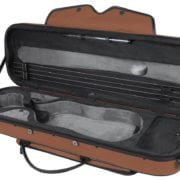 Pedi SteelShield Oblong Viola case BROWN OPEN
