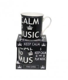 Keep calm and play music - mug