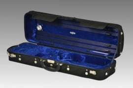 Negri Classic violin case - Black/Blue