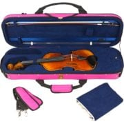 Tom & Will Violin case pink open