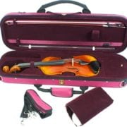 Tom & Will Violin case red open