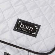 BAM Hoody for hightech oblong violin case grey detail