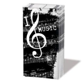 Tissues I love music - 10 pack
