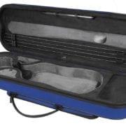 Pedi Night Stripe Violin case blue open