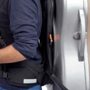 BAM Ergonomic Cello backpack side view