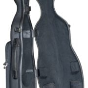 Hidersine Polycarbonate Gourd Violin Case carbon open