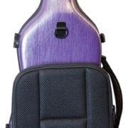 Hidersine Polycarbonate Gourd Violin Case purple back