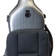 Hidersine Polycarbonate Gourd Violin Case silver back