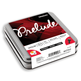 Prelude Violin Strings and Accessories tin